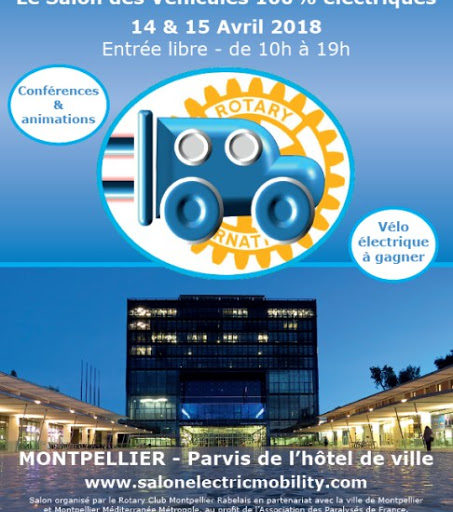 Salon Electric Mobility à Montpellier le 14 & 15 avril 2018